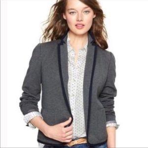 GAP The Academy Blazer in Grey with Navy Trim Size 16T Collegiate Preppy Wear